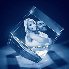 Laser Engraved 3D Crystal Personalized Gift Large Diamond Shape