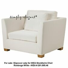 IKEA Cover for IKEA Stockholm 1.5 seat Chair Rostanga White Armchair Slipcover