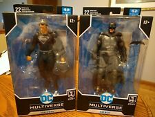 """McFarlane DC Multiverse Justice League 2021 Superman Black Suit & Batman 7"""" 2-2"""