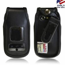 Turtleback Premium Leather Fitted Case Rotating Belt Clip for Pantech Breeze 4