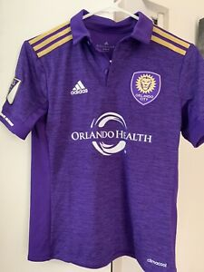 Adidas Orlando City Soccer Jersey Kids Médium MLS Patch Kids Purple NWT