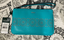 Lauren By Ralph Lauren Pool Blue Littlebury Large Wristlet New!