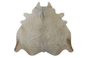White cowhide Rug Animal Print 5x6ft Large leather rug hair on fur rug decor