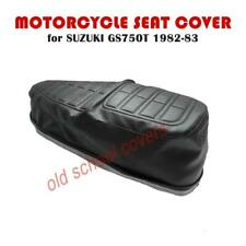 MOTORCYCLE SEAT COVER SUZUKI GS750 T 1982-83 WITH EMBOSSING & KEY HOLE RING
