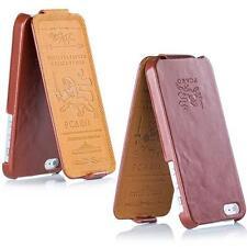 Pcaro® ledertasche iPhone 4 4S Hülle Cover Case Echtleder Tasche Mahagoni Braun