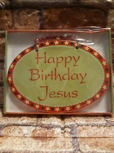 "🌟 New ""Happy Birthday Jesus"" Ceramic Christmas Plaque 5"" X 7.25"" (A11"