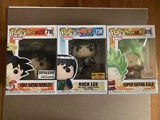 Goku Noodles Rock Lee Gitd Super Saiyan Kale Funko Pop Lot Dragon Ball Z Anime