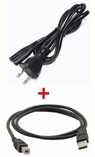 POWER CORD + USB CABLE FOR EPSON XP-310 XP-400 XP-410 WF-2530 WF-2540 WF-3520
