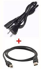 POWER CORD + USB CABLE FOR CANON MG2400 MG2950 MG5460 MG5650 MG6821 MX340