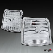 For 92-96 Ford F150/250/350 Bronco Chrome Clear Corner Signal Lights