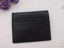 BNWoT Hugo Boss Black/Dark Green Leather Card Holder