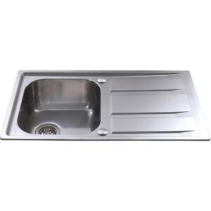 CDA KA80SS Inset Compact Single Bowl Kitchen Sink Stainless Steel