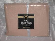 400 Count Tan Damask Microfiber Queen Sheet Set NEW!