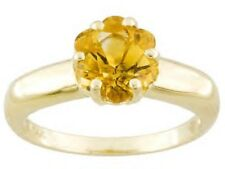 1.81 ctw Brazilian Citrine Solitaire Ring 14K yellow gold Sz 7.25