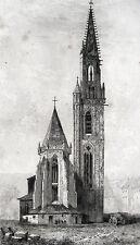 COLLÉGIALE SAINT-THIÉBAUT DE THANN MÜNSTER THEOBALDUSKIRCHE ELSASS ALSACE 1840