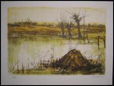 1967 Original Pierre Letellier  S/N Print French Marsh