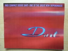 DODGE dart ORIG 1963 USA MKT brochure-GT 270 370