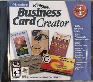 Print Shop Business Card Creator Pc Brand New XP High Quality Graphics Images
