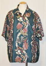 Vintage Men's Hilo Hattie 100% Silk Hawaiian Shirt - Size X-Large
