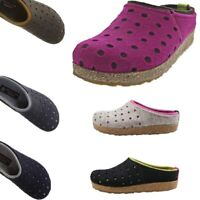 Haflinger Grizzly Holly House Clogs Mules Wool Felt Slippers Women NEW Scuffs