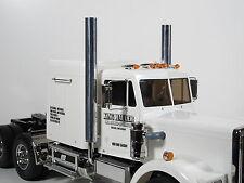 Pair Aluminum Exhaust straight Pipe Stack with adapter Tamiya 1/14 King Hauler