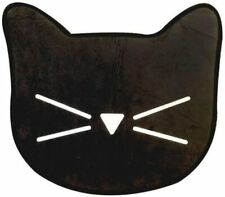 Girls' Black Cat with Whiskers Design Non-Slip Bath Mat for Bathroom, 23 Inch