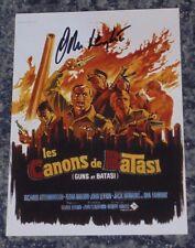 JOHN LEYTON-  GUNS AT BATASI- 5x7 PHOTO SIGNED-  Poster