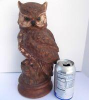 "Vintage Large 12"" Tall Ceramic Owl Halloween Fall Autumn Decor Centerpiece"