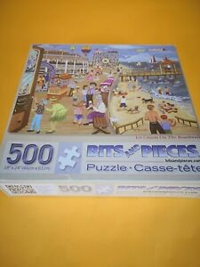 """New 500 Piece Puzzle Factory Sealed """"""""Ice Cream On The Boardwalk"""" Ships Free US"""