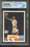 2007-08 Kevin Durant Topps 57/58 Variation #112 Gem Mint 10 RC Rookie Nets