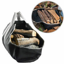 Firewood Carry Canvas Log Tote Bag Wood Carrier Holder Round Rack Storage Caddy