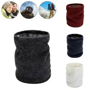 Neck Scarves Unisex Winter Outdoor Warmer Snood Thermal Knitted Tube Fleece