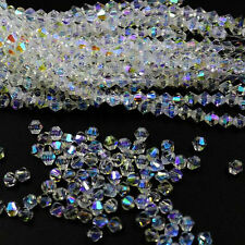 New #5301 jewelry 3mm Swarovski Crystal Bicone bead 10000pcs White AB