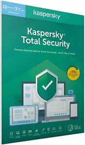 Kaspersky Total Security 2021 - 10 Devices - 1 Year - Antivirus