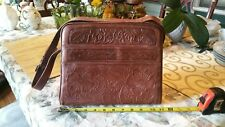 Vintage Avelar Hand Tooled Leather Bag Purse Western Mexico