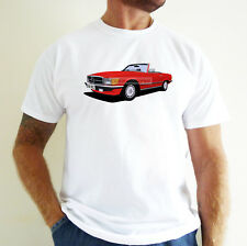 MERCEDES BENZ SL CAR ART T-SHIRT. PERSONALISE IT!