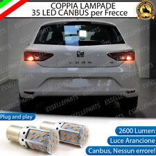 COPPIA LAMPADE PY21W BAU15S CANBUS 35 LED SEAT LEON 5F1 FRECCE POSTERIORI