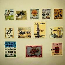 Sudan Stamps,New Surcharged. value adjusted from pounds to Dinars 1992-2000