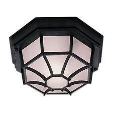 Searchlight in Alluminio Nero All'aperto Veranda Garage esterno a filo luce da soffitto