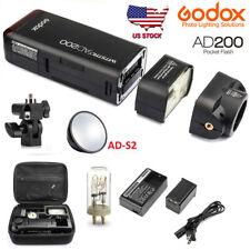 Us Godox Ad200 200W 2.4G Ttl 1/8000s Outdoor Pocket Speedlite Flash + Ad-S2 Gift
