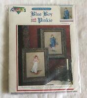 NEW Color Charts Blue Boy & Pinkie Cross Stitch Kit