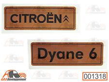 MONOGRAMME autocollant doré (STICKER) pour coffre / malle Citroen DYANE 6 -1318-