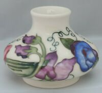 Moorcroft Sweetness bulbous squat Vase 33/3 - 8cm tall