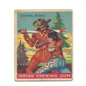 1933 Goudey - Indian Chewing Gum - Col. Bowie (#53) - VG/EX