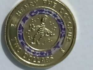2021 Australia $2 UNC Colour Coin 30th Ann Of The Wiggles The Octopus