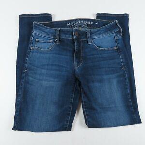 American Eagle Jeans Size 4S Skinny Low Rise Medium Wash Blue Denim Womens