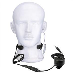 Taktisches Kehlkopfmikrofon Headset TCI PTT für Mobile 3.5mm Audio Plug Airsoft