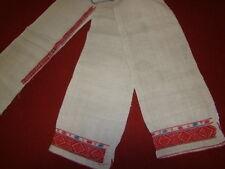 Vintage Ukrainian homespun linen embroidered namitka Rivne region