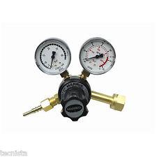 Harris originale 801 riduttore pressione bombole saldatura Argon con manometri