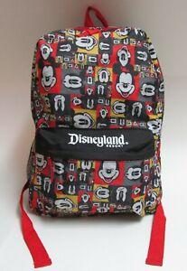 Disneyland Resort Mickey Mouse Pop Art Face Backpack Red & Black Disney Parks